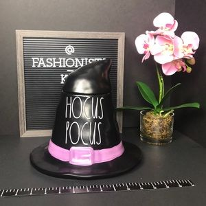 Rae Dunn Hocus Pocus Halloween witch hat canister